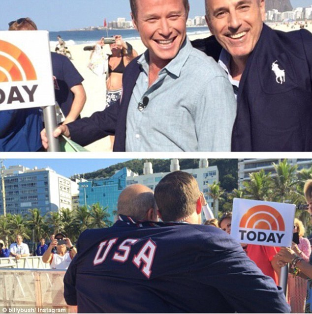 Bad choice:Bush is reported to have bragged about the tape back in August while in Rio covering the Olympic Games for NBC (Bush and Matt Lauer above)