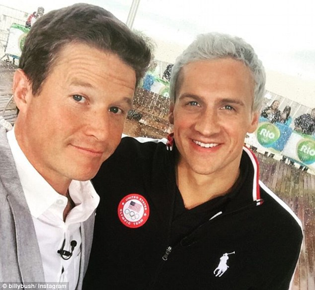 Big get: Bush did secure NBC's biggest interview of the Olympic Games when he spoke with Ryan Lochte (above) after his fabricated robbery