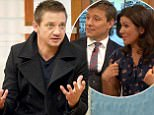 EDITORIAL USE ONLY. NO MERCHANDISING. IN US EXCLUSIVE RATES APPLY Mandatory Credit: Photo by Ken McKay/ITV/REX/Shutterstock (6235829f) Jeremy Renner 'Good Morning Britain' TV show, London, UK - 12 Oct 2016 Hollywood star and Academy Award nominee Jeremy Renner is in the studio (The Hurt Locker, Mission Impossible, Bourne, Hansel and Gretel and Hawkeye in Avengers: Age of Ultron) on his new film: sci-fi mystery Arrival which premieres at The BFI London Film Festival on Monday night.