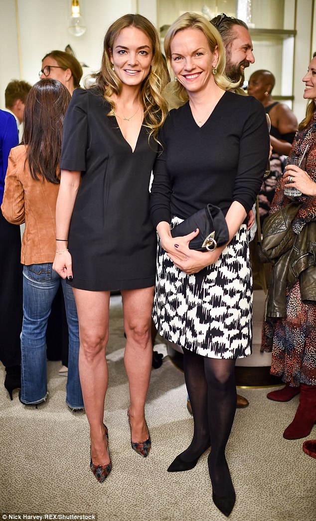 Co-founder of the charity Katharina Harf and Elisabeth Murdoch became fast friends at tonight's event hosted in the London shoe store