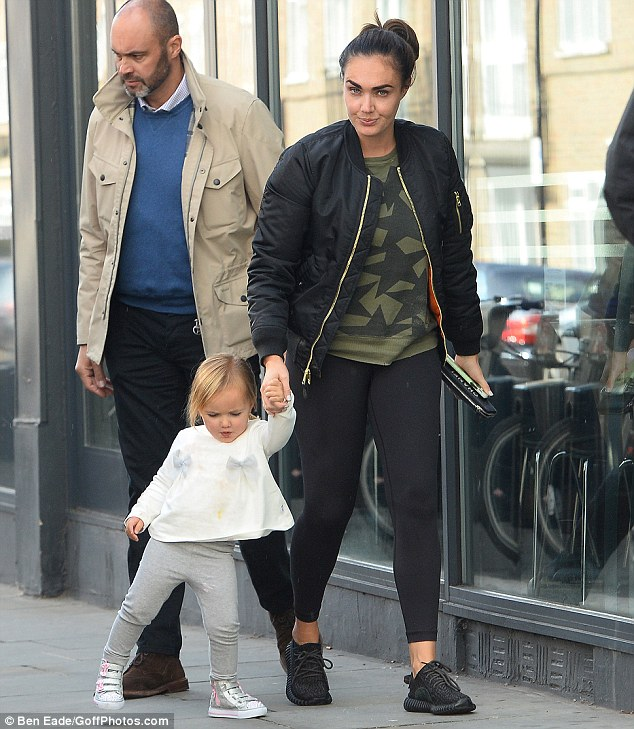 Quality time: A chilly afternoon in West London presented the perfect opportunity for an inviting family lunch as Tamara Ecclestone stepped out with daughter Sophia on Wednesday