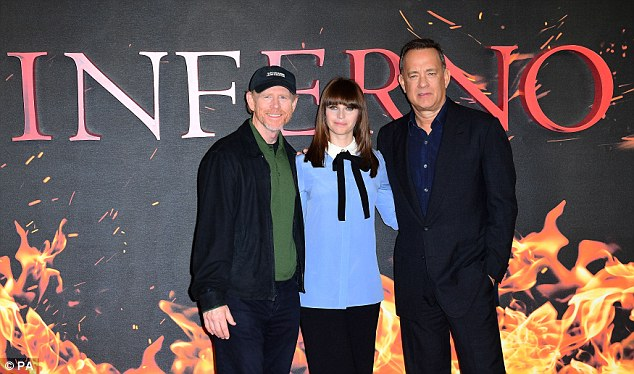 Starry-eyed:Director Ron Howard joins the actors on the red carpet