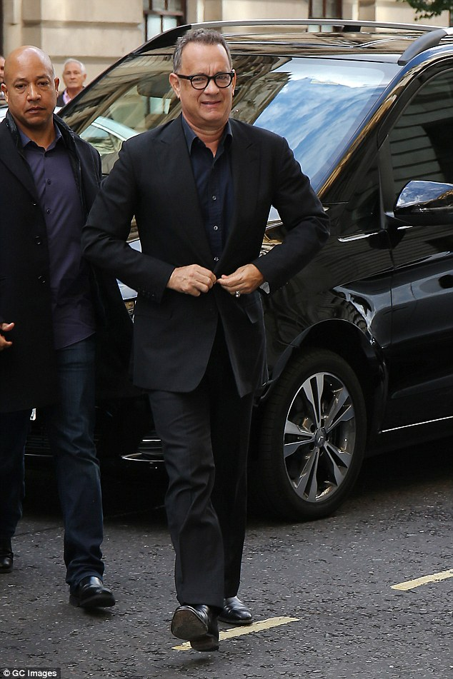 Slick: The Hollywood actor was suited and booted for the occasion