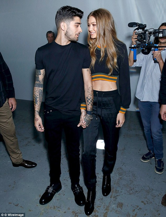 New girl: Zayn has moved on with Gigi following his split with Little Mix star Perrie