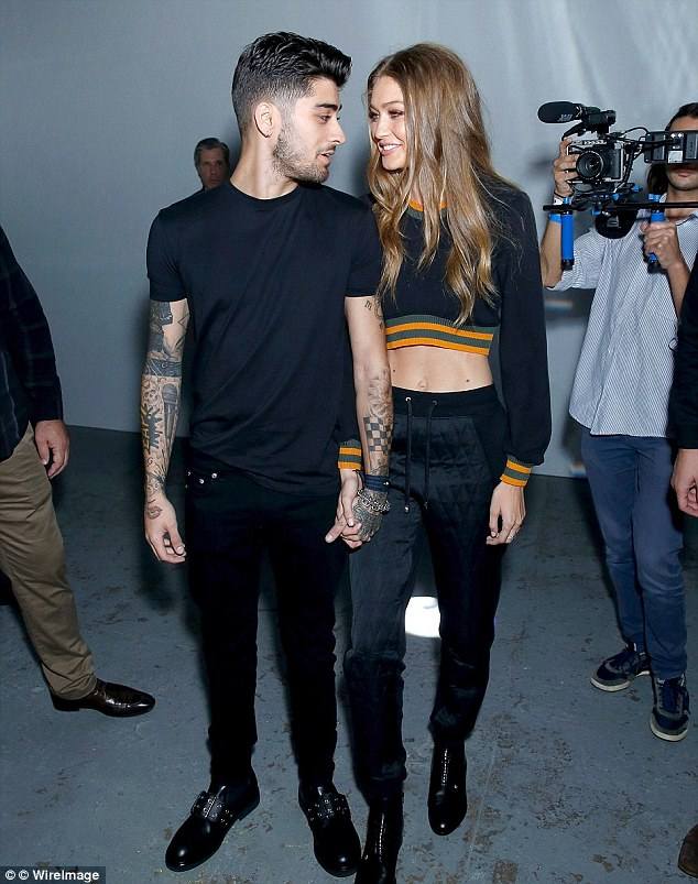 Zayn and Gigi put on an extremely affectionate display as they headed to watch the model's sister Bella walk in the London Fashion Week Versus show last month