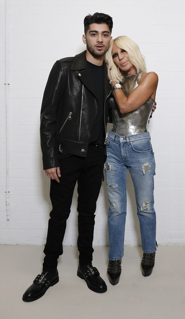 Despite admitting that she wasn't a fan of One Direction, 61-year-old Donatella, who is vice president and chief designer of the label, is certainly a fan of Zayn