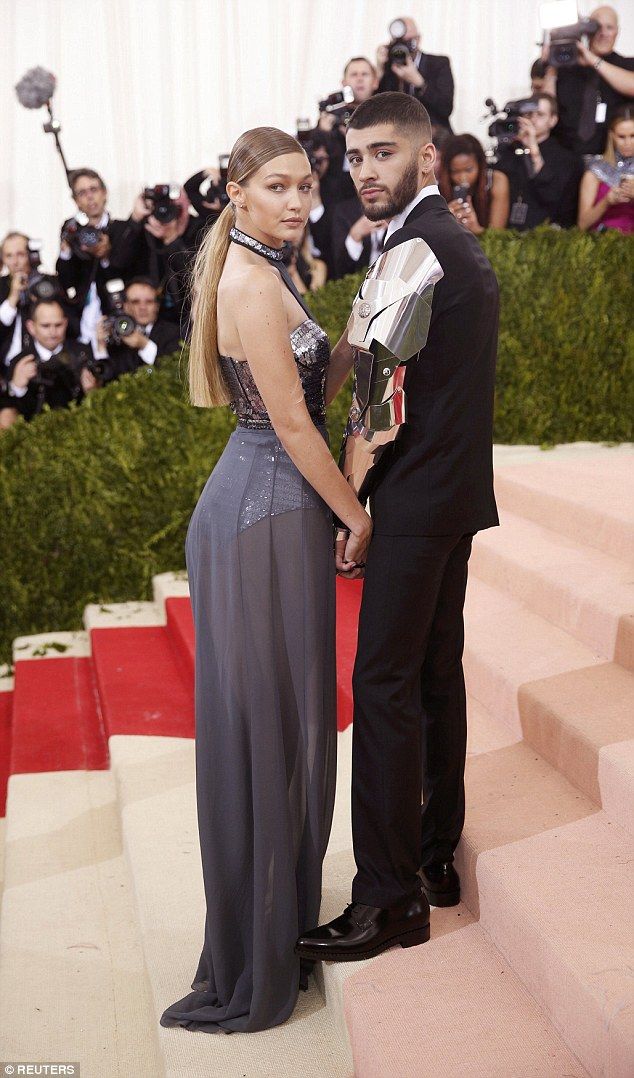 Zayn was dressed by Versace for the MET Gala earlier this year alongside his girlfriend Gigi