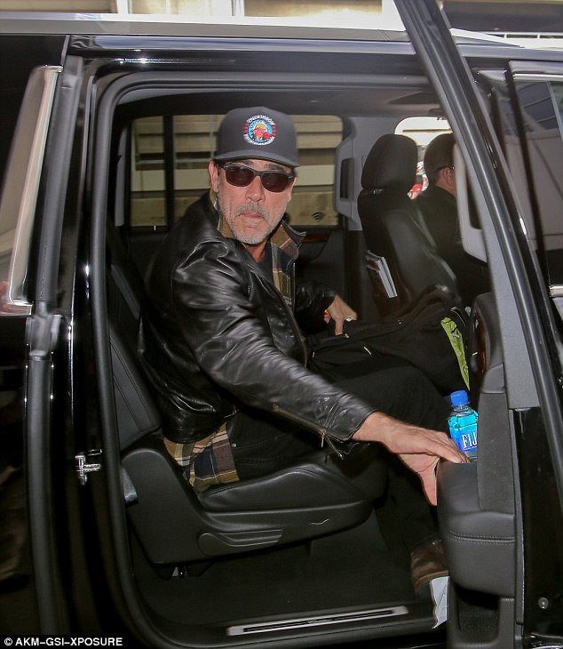 Quick getaway: The star was in New York to promote AMC's The Walking Dead at Comic-Con