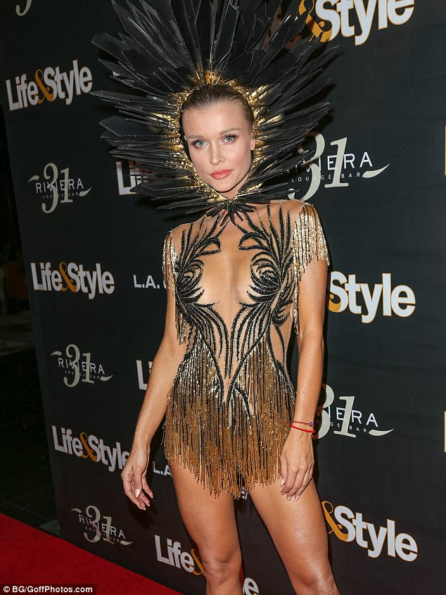 Eye-popping! Last Halloween the Dancing With the Stars alum attended Life & Style's 'Eye Candy' bash in a fringed mini dress number that left little to the imagination