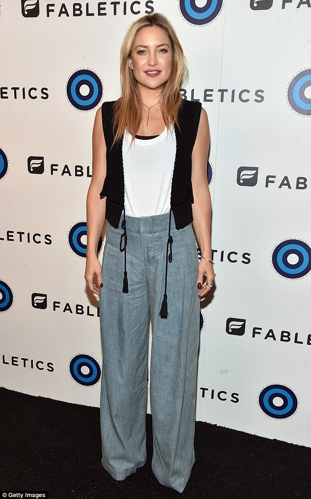 Showing her style: Kate Hudsonwent Seventies chic at a CFDA and Fabletics event in Los Angeles on Tuesday night