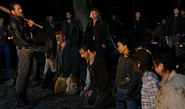 Decisions, decisions: The brutal season six finale ended with the sadistic leader of The Saviors playing a game of eeny-meeny-miney-mo to select a member of Rick's crew to execute using his barbed wire-wrapped basebale bat, Lucille