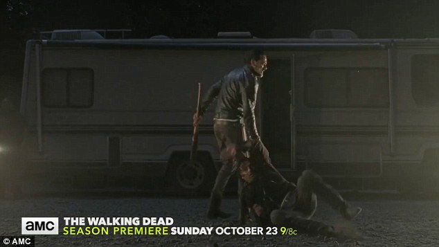 For the chop? The scene ends with him taking Rick's axe and dragging him inside his trailer, causing fans to speculate further that the talk of right hands could mean Negan has even more punishment to dole out, such as chopping Rick's hand off