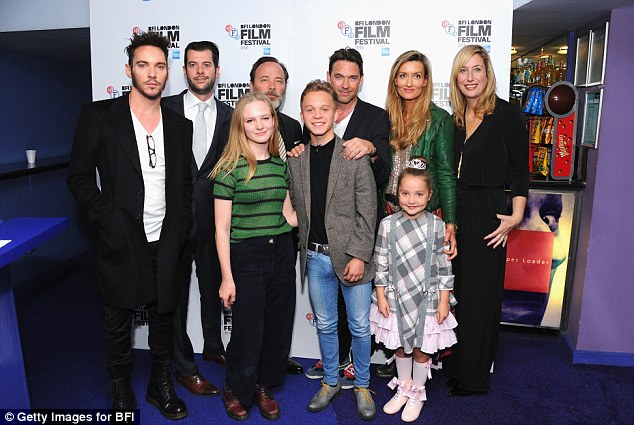 The whole gang: Joining Jonathan and Dougray was co-stars Tom Butterfield, Anya Mckenna-Bruce, Nell Williams and Natascha McElhone