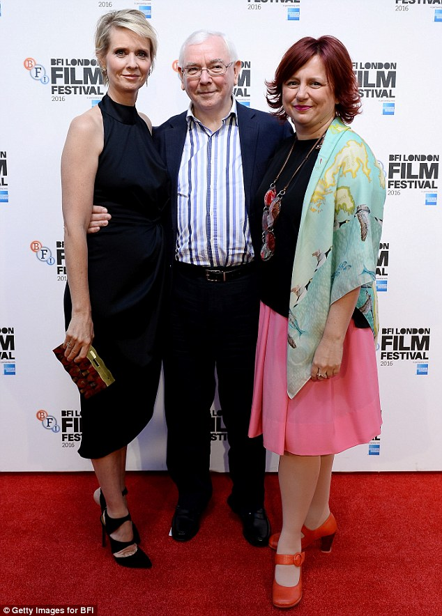 Stars of the show:   Cynthia joined director Terence Davies andClare Stewart, Director of the BFI London Film Festival on the carpet