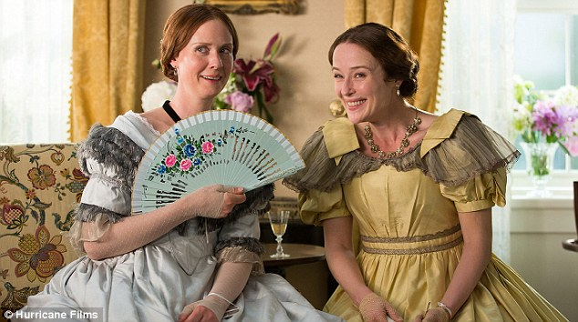 Film magic: Cynthia as Emily Dickinson in A Quiet Passion alongside Jennifer Ehle who plays the poet's sister Lavinia