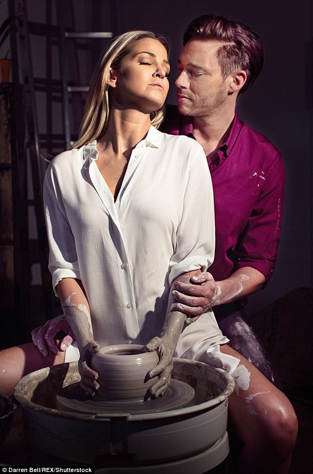 Pulled out:Sarah Harding (here with her co-star Andy Moss) was forced to pull out of Ghost The Musical on Monday night, mid-show