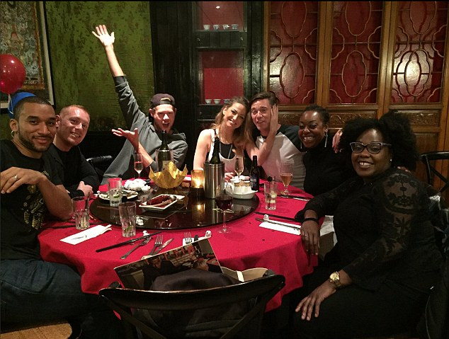 Wild weekend: Just this weekend, Sarah was pictured enjoying the company of her co-stars