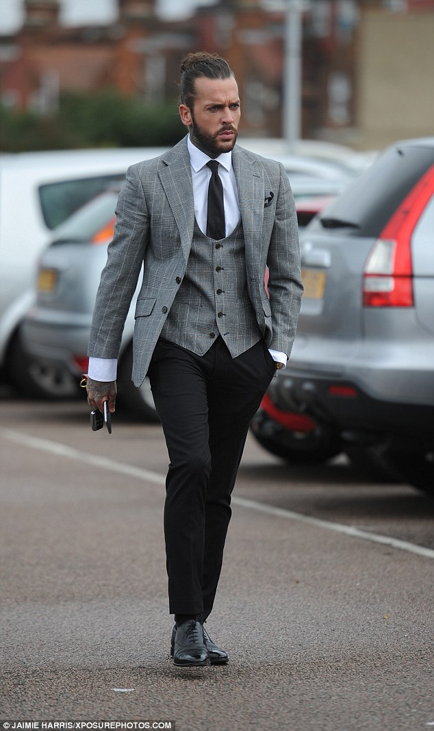Dapper dude: Pete was dressed to impress in a grey three-piece suit