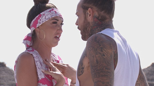 Explosive:Despite previously harking about Pete's ability to calm down her famously fiery temperament, the brunette beauty showed her boyfriend the entirety of her wrath as she screamed at him on the beach