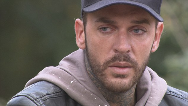Bereft:In shock at the discovery, the inked-up hunk made his way back to Essex where he was comforted by his best pal James Lock after he broke down over his behaviour and expressed huge regret over his actions