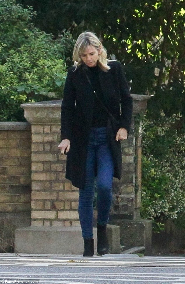 Shopping spree: Zoe Ball was seen visiting a homeware store in Portslade near Brighton on Tuesday, seemingly picking up items to furnish her new home