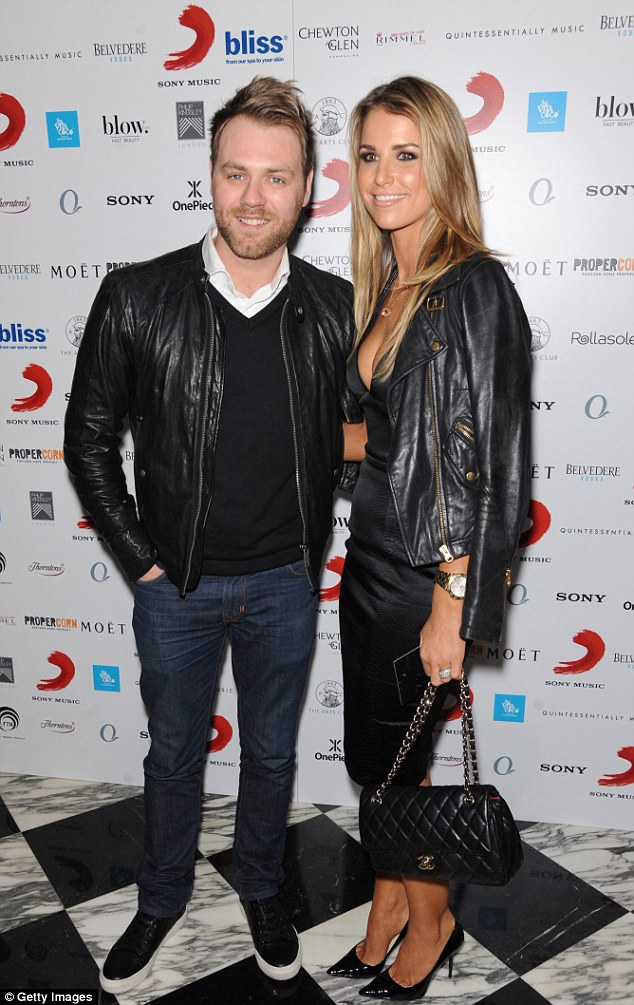 Love split: Vogue was married for three years to Irish pop star Brian McFadden before separating last year