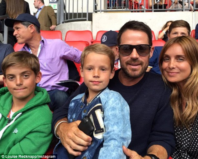 Cute family: Louise said she believed she might never have children, 14 years ago