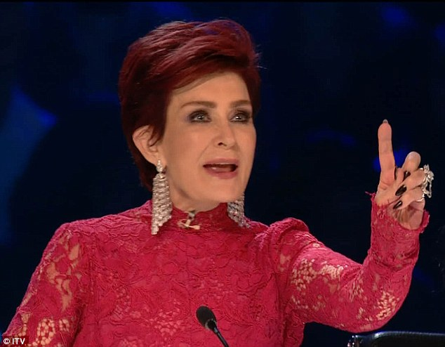 Speaking out: Sharon Osbourne has spoken out to defend herself, after speculation arose that she was drunk during Saturday night's broadcast of The X Factor