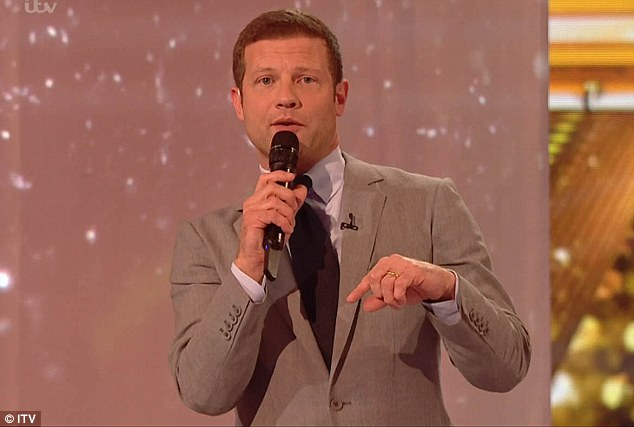Just joking? Dermot O'Leary jokingly suggested the rumours about Sharon's behaviour on Saturday's X Factor had merit during Sunday's follow-up broadcast of the show