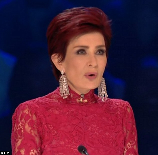 In the hot seat: Sharon Osbourne repeatedly faltered during the series' first X Factor live show