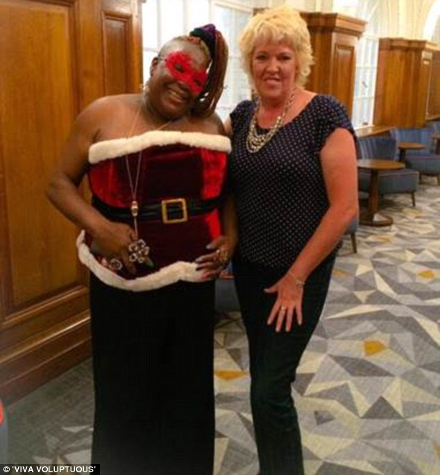 Sexy Santa:Googlebox star Sandra Martin has swapped her couch for the runway as she modelled a number of sexy lingerie for new plus size underwear brand Viva Voluptuous