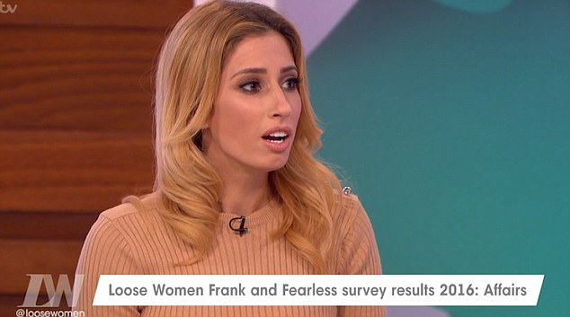 Confession: Stacey Solomon admits she's considered cheating before on a boyfriend during discussion on Loose Women on Tuesday