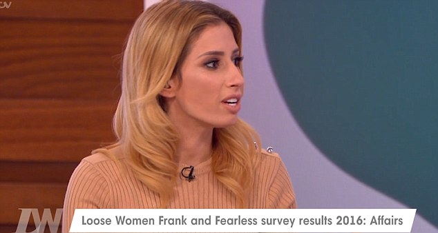 Intrigue: The women were discussing a survey taken by their viewers which revealed that 15 per cent of them have cheated on their partner