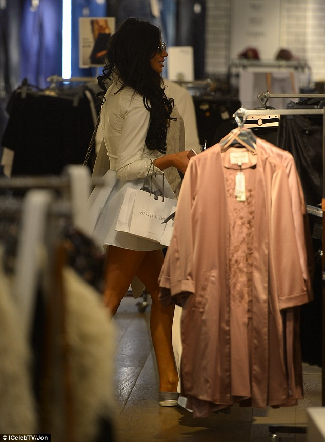 Fashionista: The former X-Factor star also looked at adding to her wardrobe