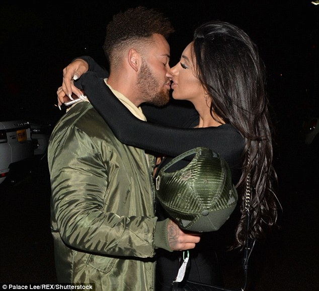 Having a snog: The pair first puckered up for a snog during the National Reality TV Awards late last month