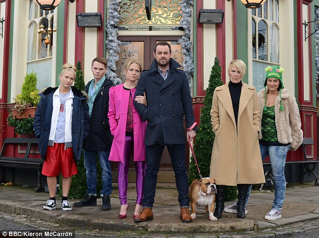Family matters: Kellie made her soap debut in December 2013 as part of the Carter family