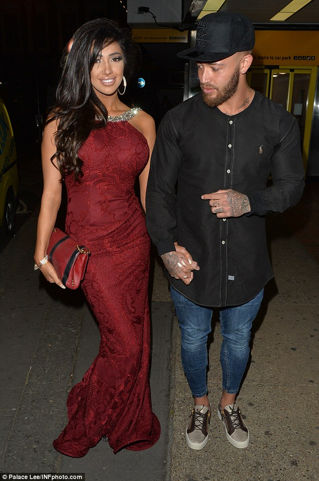 Cute couple:Chloe Khan accompanied new beau Ashley Cain to The Drury Club in London on Monday night, where the stars gathered