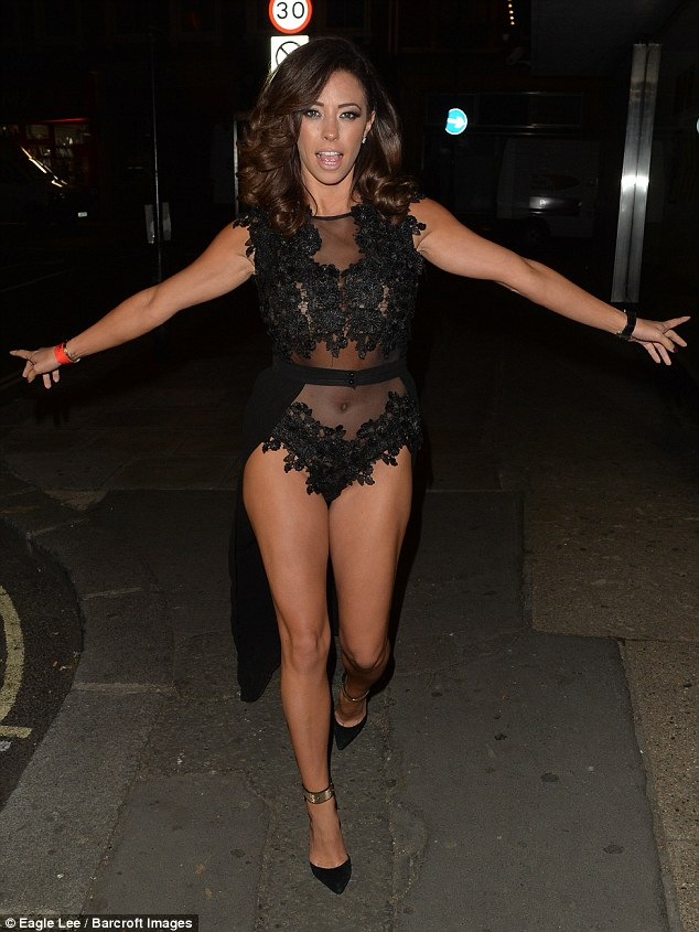 Making an entrance:Pascal Craymer was characteristically dressed in minimal attire