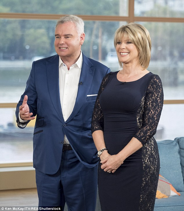 Happy couple:Discussing a couple's decision to recite their vows while having sex, the 56-year-old presenter left viewers hot under the collar as she simulated sex with Eamonn Holmes