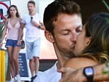 EXCLUSIVE: F1 Racing car driver Jenson Button gets cozy with his girlfriend Brittny Ward as they having lunch along Sunset Boulevard in West Hollywood, Ca <P> Pictured: Jenson Button and Brittny Ward <B>Ref: SPL1372270  111016   EXCLUSIVE</B><BR/> Picture by: GoldenEye / London Entertainment<BR/> </P><P> <B>Splash News and Pictures</B><BR/> Los Angeles: 310-821-2666<BR/> New York: 212-619-2666<BR/> London: 870-934-2666<BR/> photodesk@splashnews.com<BR/> </P>