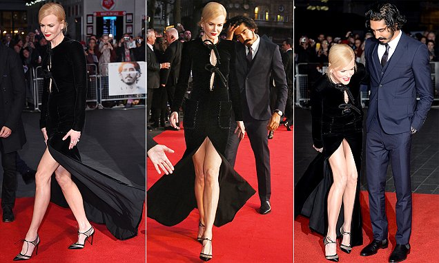 Nicole Kidman flashes her endless legs at Lion premiere in London
