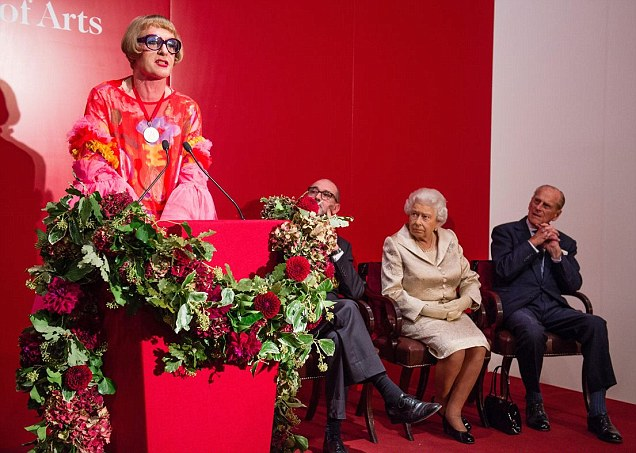 Prince Philip can't take his eyes off Grayson Perry at the Royal Academy of Arts