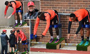 Liverpool players gear up for crucial Monday night clash with Manchester United as Jurgen