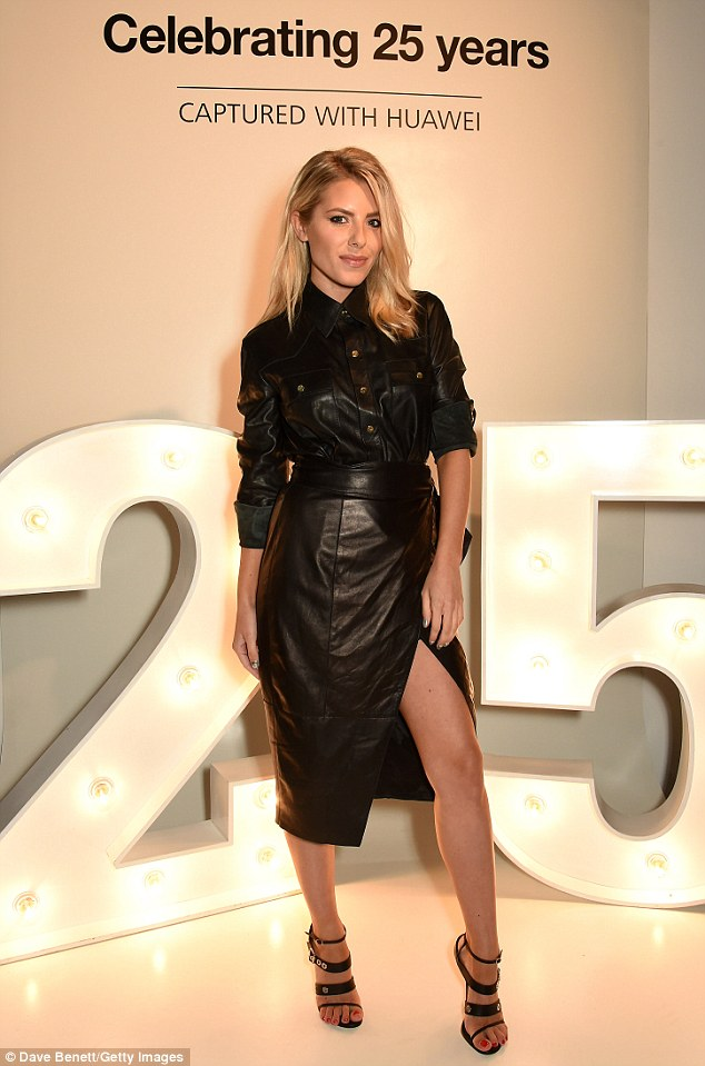 Wow-factor: Mollie King wowed onlookers when she appeared at the Esquire Townhouse, where she deftly turned heads on Wednesday