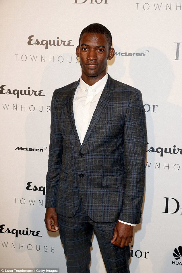 Dapper: Actor Malachi Kirby - known for his roles in EastEnders and Dr Who - was sharp-suited