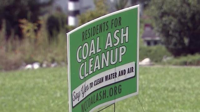 Coal ash cleanup sign in Goldsboro