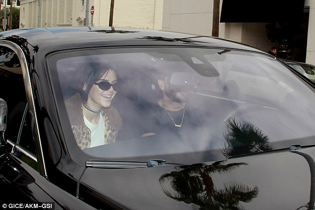 That's better: Kendall raised a laugh as Scott drove them both
