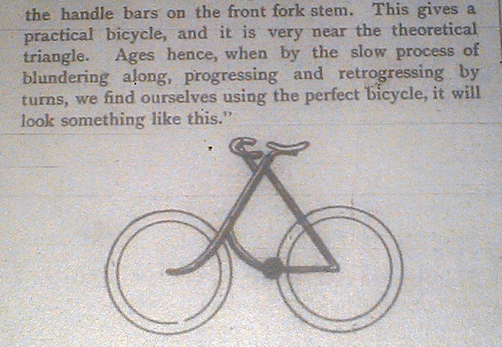 Triangle bicycle of the future, Austral Wheel, 1896 close up