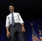 President Barack Obama finishes his remarks at a campaign event for the Ohio Democratic Party and for the Senate bid for former Ohio Gov. Ted Strickland at the Greater Columbus Convention Center in Columbus, Ohio, Thursday, Oct. 13, 2016. (AP Photo/Susan Walsh)