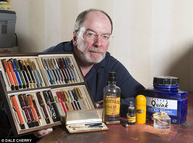 Write stuff: Simon Gray owns vintage pen shop Battersea Pen Home in Epping